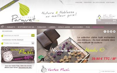 la boutique du parquet se lance sur internet. Black Bedroom Furniture Sets. Home Design Ideas