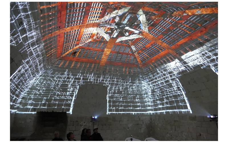 Video mapping au Donjon de La Roche Posay