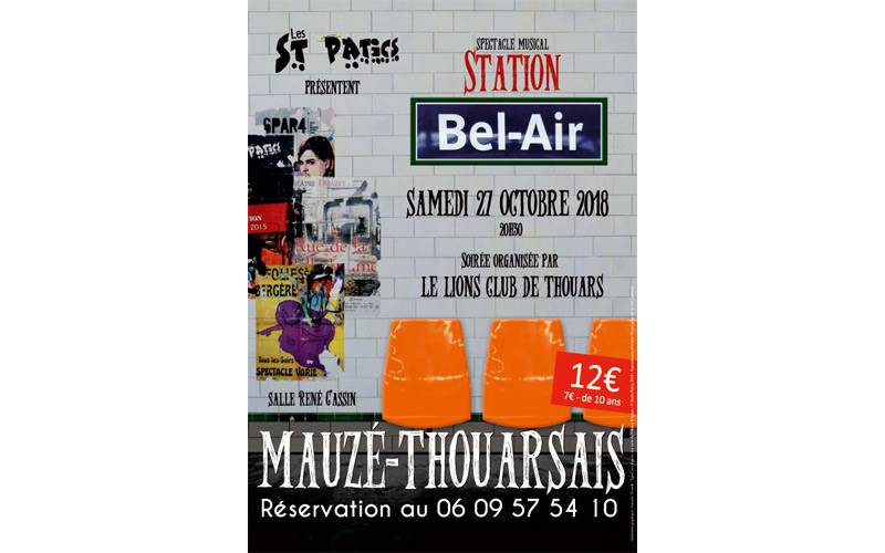 Grand spectacle Station Bel Air à Mauzé Thouarsais le 27 octobre
